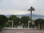 Wolken boven de golf van Korinthe, Griekenland