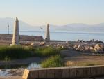 Ingang van de haven van Xylokastro, Griekenland