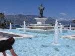 Pegasus fontein in Korinthe, Griekenland