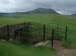 Ingang naar Castlelaw Hillfort, Schotland
