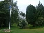 Wit kasteelhuis, ergens in Argyll, Schotland