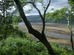 Holy Loch met eb, Schotland