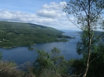 Loch Riddon en the Kyles of Bute vanaf Tighnabruaich Viewpoint, Schotland