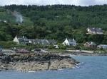 Dorpje langs de kust van Kintyre, Schotland