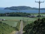 Steile weg op Kintyre, Schotland