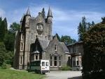 Kasteeltje in de botanische tuin van Benmore, Schotland