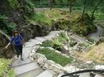 Klimmen in de botanische tuin, Benmore, Schotland
