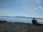 Op het strand in Schotland, Schotland