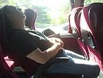 In de bus naar Eindhoven airport, Griekenland