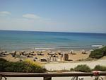 Het strand bij Vitalades, Griekenland