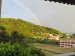 Regenboog in Vitalades, Griekenland