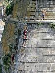 Spelen op de burchtmuren, Korfoe, Griekenland