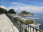 De burcht van Korfoe, Griekenland