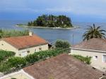 Muizeneiland vlakbij Korfoe stad, Griekenland
