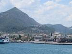 Igoumenitsa vanaf de veerboot, Griekenland