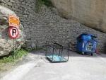 Bak om goederen op te hijsen, Meteora, Griekenland