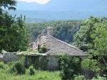 In het dorp Vitsa, Griekenland