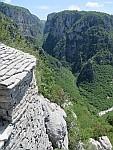 Uitzicht op de Vikos kloof, Griekenland