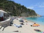 Strandje in Agios Nikitas, Lefkada, Griekenland