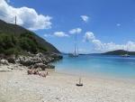 Rouda baai strand op Lefkada, Griekenland