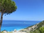 De westkust van Lefkada, Griekenland