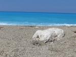 De zee bij het Gialos strand, Lefkada, Griekenland