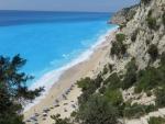 Het Egremni strand, Lefkada, Griekenland