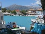 De haven van Vasiliki, Lefkada, Griekenland