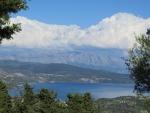 De bergen van Lefkada in de wolken, Griekenland