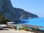 De kust bij Porto Katsiki, Lefkada, Griekenland