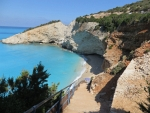 Het strand van Porto Katsiki, Griekenland