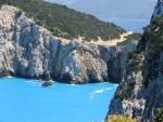 Zee bij de kaap van Lefkada, Griekenland