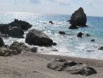 de kust bij Kalamitsi, Lefkada, Griekenland