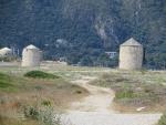 Molens in het noorden van Lefkada, Griekenland