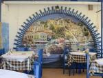 Beschilderde wand, Roda, Griekenland