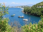 Baai in het noorden van Korfoe, Griekenland