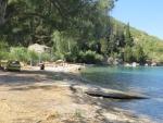 Het Kouloura strand, Korfoe, Griekenland