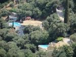 Huizen met zwembaden, Korfoe, Griekenland