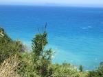 De noordwestkust van Korfoe, Griekenland