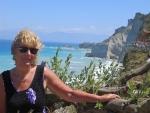 Uitzicht bij de Loggas kliffen, Griekenland