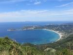 De baai van Agios Georgios, Griekenland