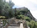 Klimmen naar Angelokastro, Griekenland