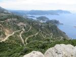Uitzicht vanaf Angelokastro, Griekenland