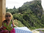 Pfff, de klim naar het kasteel is achter de rug, Griekenland