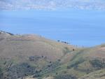 Uitzicht op Albanië vanaf de Pantakrator, Griekenland