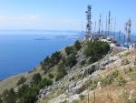 Op de top van de Pantakrator, Griekenland