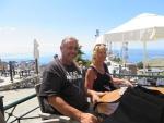 Op de top van Korfoe, Griekenland