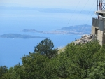 Kerkyra stad vanaf de Pantakrator, Griekenland