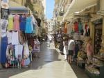 Toeristenstraatje in Kerkyra, Griekenland
