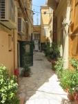 Straat in oud Kerkyra, Griekenland